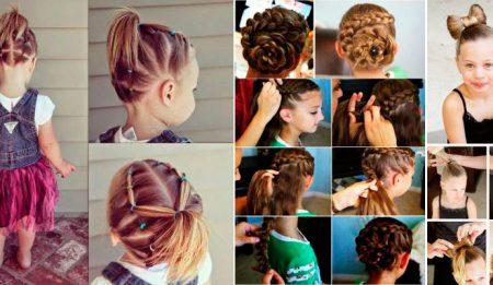 Tres peinados de niña ¡súper fáciles!